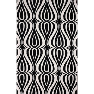 nuLOOM Hand-hooked Synthetics Black Rug (8' 6 x 11' 6)