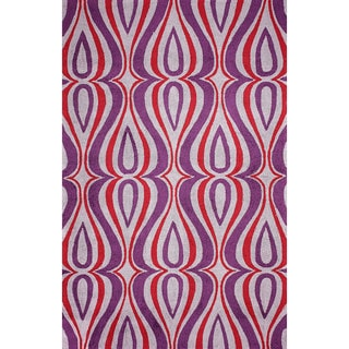 nuLOOM Hand-hooked Synthetics Purple Rug (8' 6 x 11' 6)