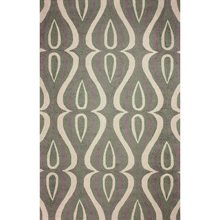 nuLOOM Hand-hooked Synthetics Green Rug (8'6 x 11'6)