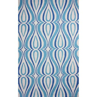 nuLOOM Hand-hooked Synthetics Light Blue Rug (8' 6 x 11' 6)