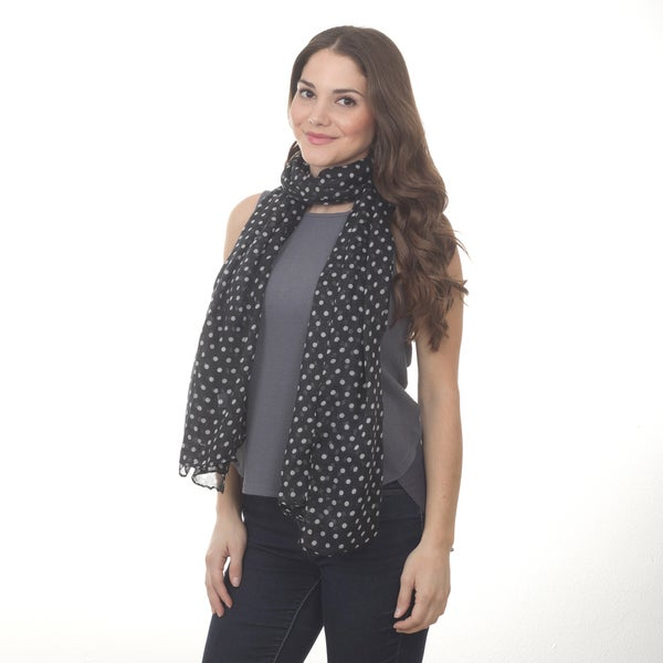Polka Dot Design Shawl