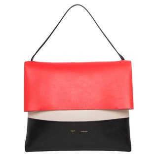 Celine 'All Soft' Colorblocked Leather Shoulder Bag