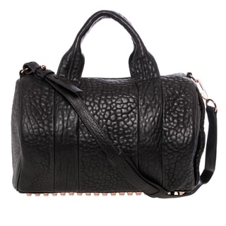 Alexander Wang 'Rocco' Black Textured Leather Satchel