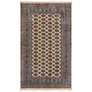 Pakistani Hand-knotted Bokhara Tan/ Ivory Wool Rug (4'11 x 8'4)