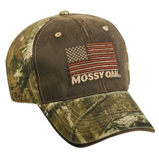 Mossy Oak American Flag Adjustable Hat