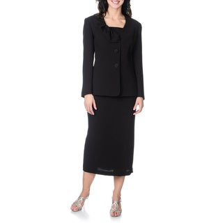 Giovanna Signature Women's Black Mock 3-piece Skirt Set