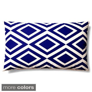 Contemporary Geometric Diamond Lumbar Accent Pillow