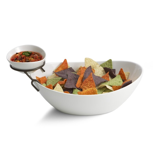Bathtub Shape Chip and Dip Bowl