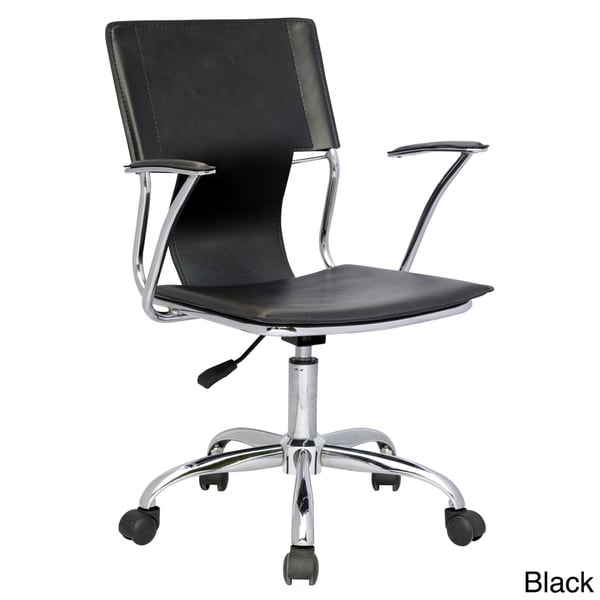Somette Pneumatic Gas Lift Swiveling Office Arm Chair