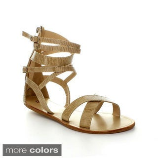 Be Intouch Women's 'Joey-1' Adjustable Buckle Gladiator Sandals