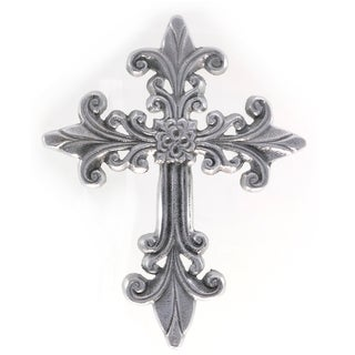 Handcrafted Elaborate Decorative Aluminum Wall Cross (India)