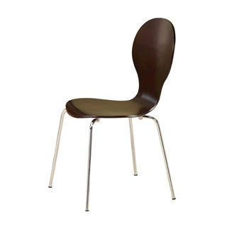 Orval Cappuccino Metal Side Chair