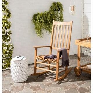Safavieh Shasta Teak Finish Brown Acacia Wood Rocking Chair