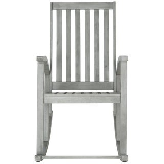 Safavieh Clayton Grey Wash Acacia Wood Rocking Chair