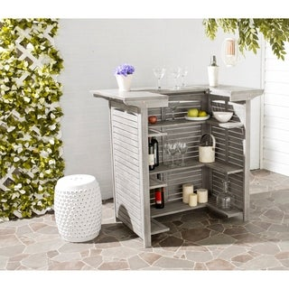 Safavieh Monterey Grey Wash Acacia Bar Table