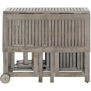 Safavieh Arvin Teak Grey Wash Acacia Wood 5-piece Outdoor Dining Table Set