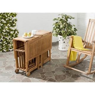 Safavieh Arvin Teak Finish Brown Acacia Wood 5-piece Outdoor Dining Table Set