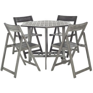 Fresh  Price Safavieh Kerman Grey Wash Acacia Wood piece Outdoor Dining Table Set Best