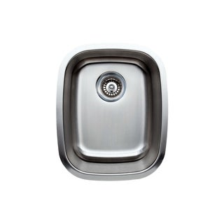 Wells Sinkware 15-inch Undermount Single Bowl 18-gauge Stainless Steel Kitchen Sink