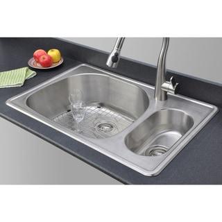 Best Price Kitchen Sinks : ... 18 Gauge 80/20 Double Bowl Topmount Stainless Steel Kitchen Sink