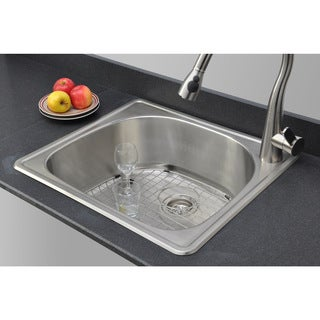 Wells Sinkware 18 Gauge D-shape Single Bowl Topmount Stainless Steel Kitchen Sink