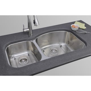 Wells Sinkware 17 Gauge Deck/ 18 Gauge Double Bowl Undermount Stainless Steel Kitchen Sink