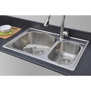 Wells Sinkware 18 Gauge Double Bowl Topmount Stainless Steel Kitchen Sink