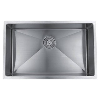 Wells Sinkware Commercial Grade 16 Gauge Handcrafted Single Bowl Undermount Stainless Steel Kitchen Sink