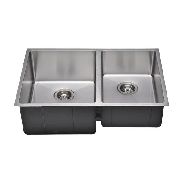Commercial Grade Stainless Steel : Commercial Grade 16 Gauge Handcrafted Under-Bowl Undermount Stainless ...