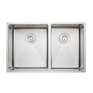 Wells Sinkware Commercial Grade 16 Gauge Handcrafted Under-Bowl Undermount Stainless Steel Kitchen Sink