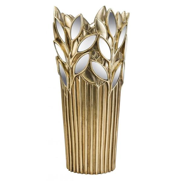 Gaia 15-inch Gold Polyresin Decorative Vase 12877252