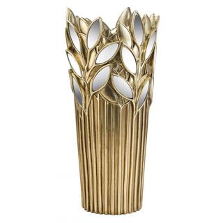 Gaia 15-inch Gold Polyresin Decorative Vase