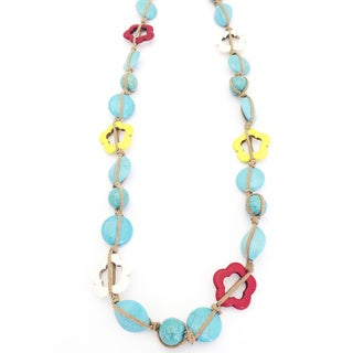Gardenia Jewelry Turquoise and Suede 39-inch Cord