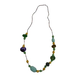Handmade Mint Terrific Beaded Fashion Necklace (Rwanda)