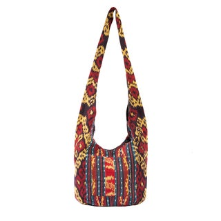 Handmade Boho Chic Ikat Shoulder Bag (Indonesia)