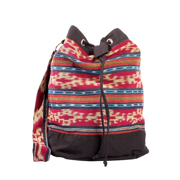 Boho Chic Ikat Weekend Cross-body Bag (Indonesia)