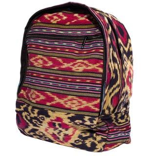 Handmade Boho-chic Ikat Backpack (Indonesia)