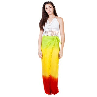 Handmade Women's Rasta Flair Sarong (India)