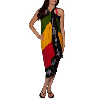 Handmade Women's Rasta Beach Sarong (Indonesia)