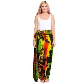 Handmade Women's Rasta Love Sarong (Indonesia)