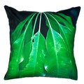 20 x 20-inch Leaves Outdoor Throw Pillow (India)