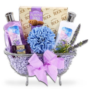 Alder Creek Gift Baskets Lavender Relax and Enjoy Gift Basket for Mom