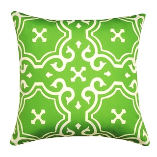 20 x 20-inch Lime Green Medallion Toss Outdoor Throw Pillow (India)