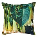 Trumpet Flower Outdoor Pillow