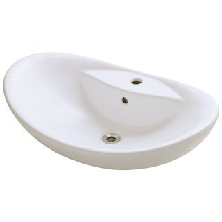 Polaris Sinks P012VB Bisque Porcelain Vessel Sink