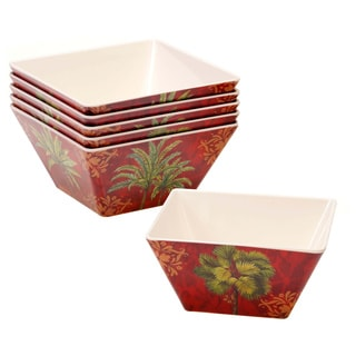 Certified International 'Sunset Palm' Melamine Ice Cream Bowl (Set of 6)