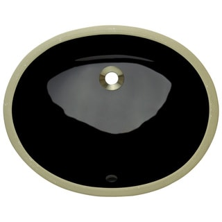 Polaris Sinks PUPSBL Black Porcelain Bathroom Sink