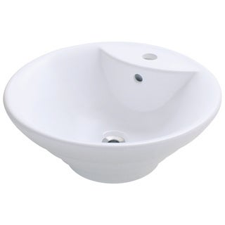 Polaris Sinks P002VW White Porcelain Vessel Sink