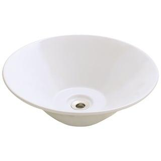 Polaris Sinks P022VB Bisque Porcelain Vessel Sink