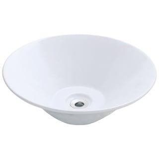 Polaris Sinks P022VW White Porcelain Vessel Sink